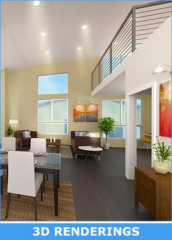 3D model apartments renderings
