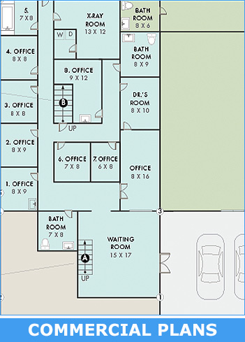 Commercial site plans measuring and drafting