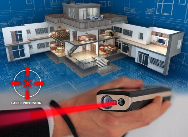 Laser measuring floorplan drawing services