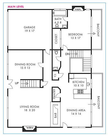 black and white floorplans standard type