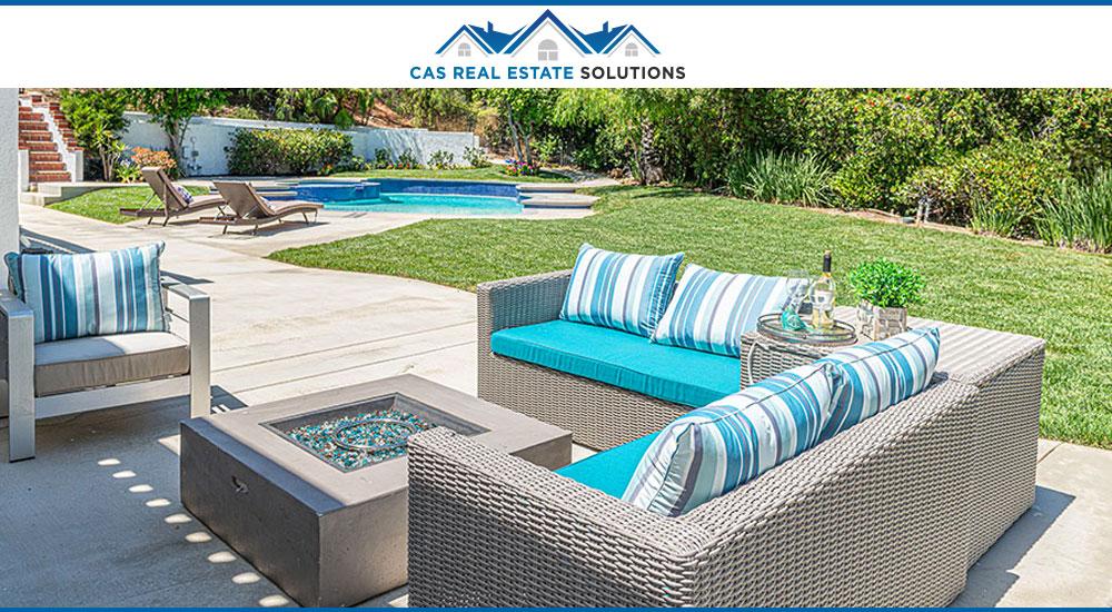 Outdoor patio staging interior design
