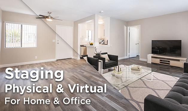 Home and office staging - physical and virtual